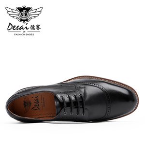 Image 5 - Desai Luxus Echtes Leder Männer Formale Schuhe Spitz Top Qualität Kuh Leder Oxford Männer Kleid Schuhe Größe