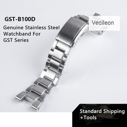 316L Stainless Steel Genuine Watchband for GST-B100/S130/W300GL/400G/W330 GST-W120L/S120/W130L/S100/S110 Watch Straps band