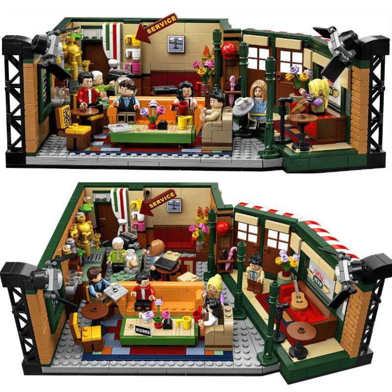 Classic 1228pcs TV American Drama Central Perk Cafe Lepinblock Friends Model Building Blocks Bricks 21319 Toys for Children image