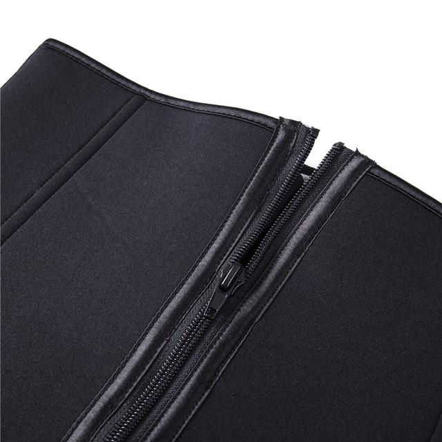 Waist Cinchers New Zipper Latex Waist Cincher Corset Underbust Body Sweat Waist Trainer Belt High Compression Shaper 2