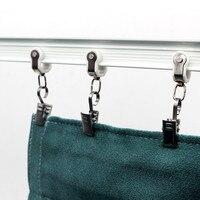 10 unidades de clipes de cortina de metal clipe de fixação braçadeiras cortinas de chuveiro casa deco janela-acessórios de ferragem