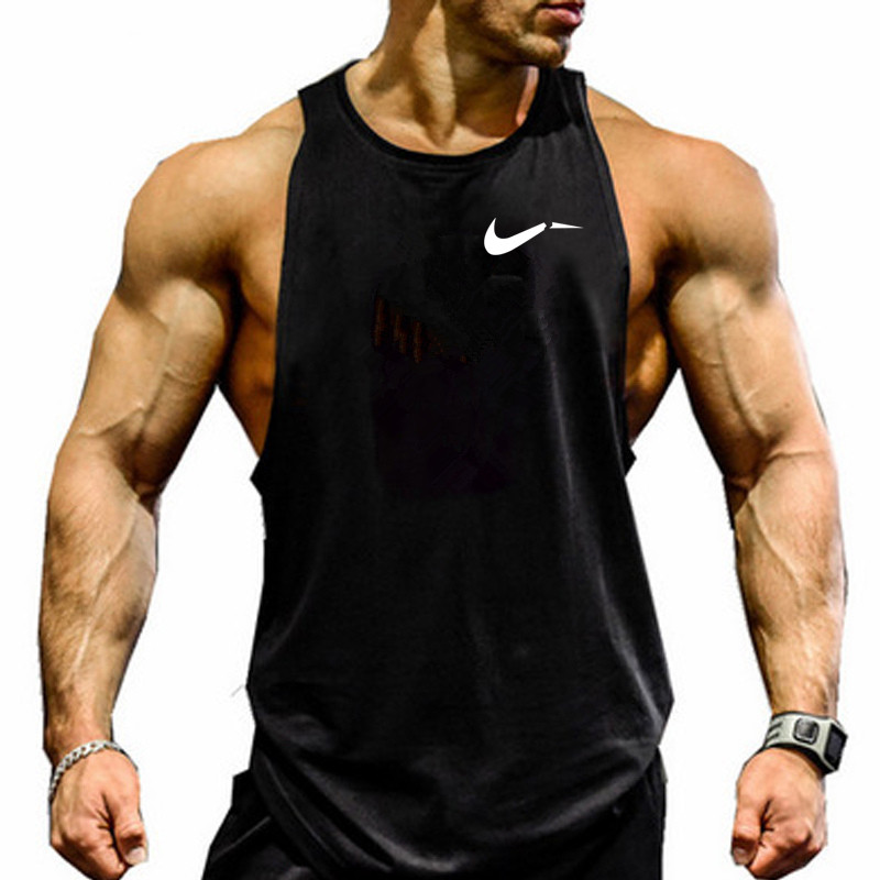 mens   tank     tops   shirt gym   tank     top   fitness clothing vest sleeveless cotton 2019 man canotte bodybuilding hombre man clothes wear