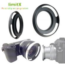 Металлическая вентилируемая бленда объектива для Leica D-LUX Typ109 Panasonic DMC-LX100 LX100 Mark II / Canon EOS M M2 M3 с фотообъективом 22 мм f2 STM