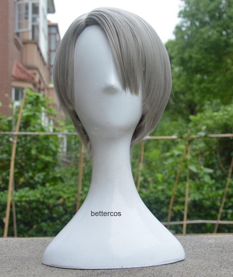 HOT YURI!! on ICE Otabek Altin Short Hair Slicked-back Cosplay Wig Halloween