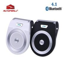2017 Kit de coche Bluetooth T821 altavoz del manos libres bluetooth 4.1 EDR Wireless Car Kit Mini visera puede manos libres llamadas