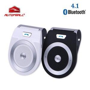 Image 1 - חדש רכב Bluetooth ערכת T821 דיבורית תמיכת רמקול Bluetooth 4.1 EDR אלחוטי לרכב מיני Visor יכול ידיים משלוח שיחות