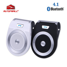 Novo carro kit bluetooth t821 alto falante, mãos livres, suporte bluetooth 4.1, edr, sem fio, mini viseira, podem ser mãos livres chamadas chamadas