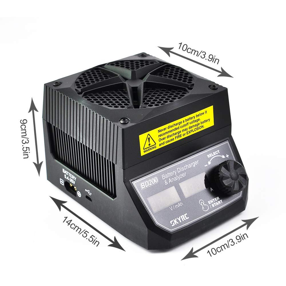SKYRC Analisador de Bateria de Descarga 200W 30A BD200 5.4 V-35 V Bateria Testador de Carga Constante de Energia de Corrente Constante testador de capacidade