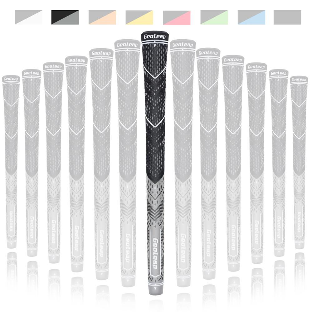 Geoleap 2019 New Golf Grips Golf Irons Club Grips Multi Compound Cord 13pcs Standard Size 8 Colors Free Shipping