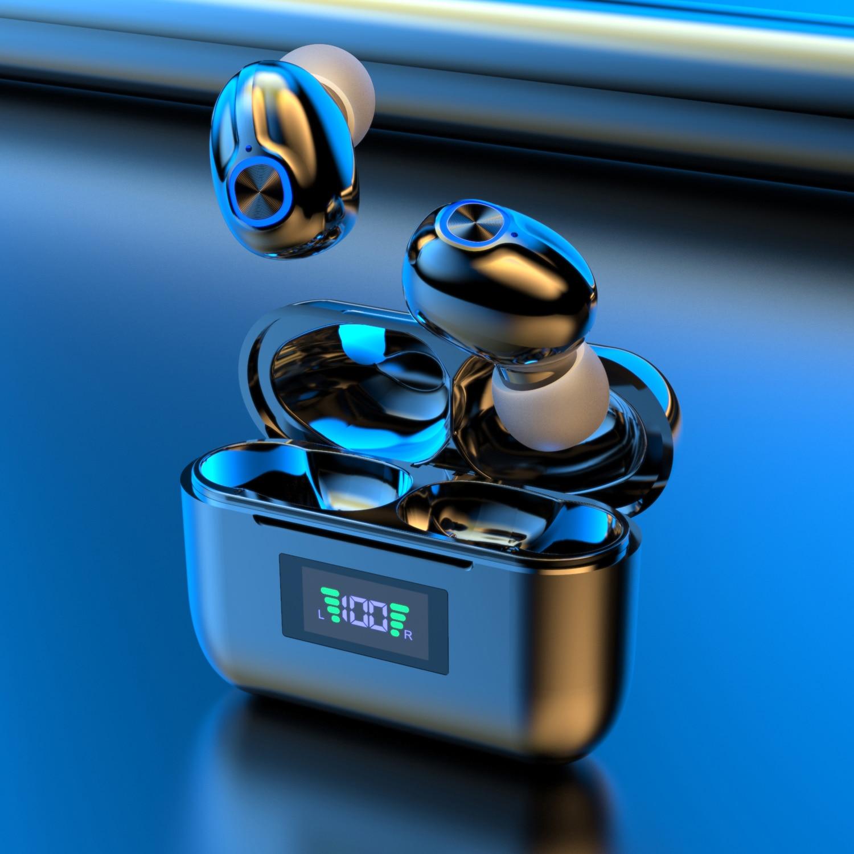 Bluetooth наушники, беспроводная спортивная Гарнитура, светодиодный дисплей, шумоподавление, спортивные водонепроницаемые наушники с двойным ...