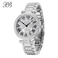 PB Watch Women Four Leaf Clover Rotatable Women Watches Crystal Bracelet Silver Quartz Waterproof Luxury Reloj Mujer Montre