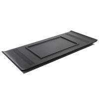 weighted heavy black stone tea tray boat shape creative tea table for kungfu tea set handmade serving tray Chinese word engraved