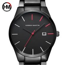 2018 quartzo criativo vogue vermelho & preto banda de aço inoxidável homens negócios topo marca luxo relógios luxo à prova dluxágua dropshipping