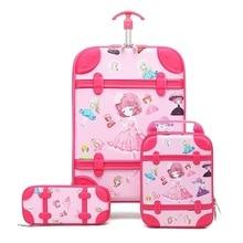 Case-Set Trolley Travel-Suitcase Children On-Wheels Anime-Stereo Kids Cartoon 3D Boy