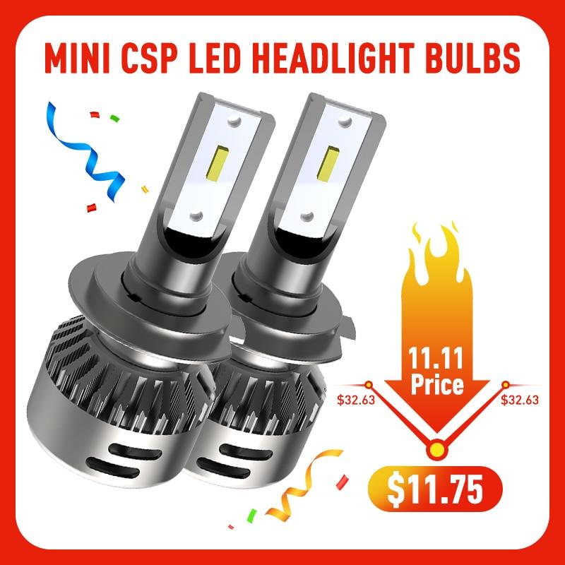 LED H7 9012 HIR2 LED H4 Ampoule H11 H8 H9 Voiture phare LED Ampoule 16000Lm CSP Puce 9005 9006 Automatique LED Phare HB3 HB4 6000K Blanc
