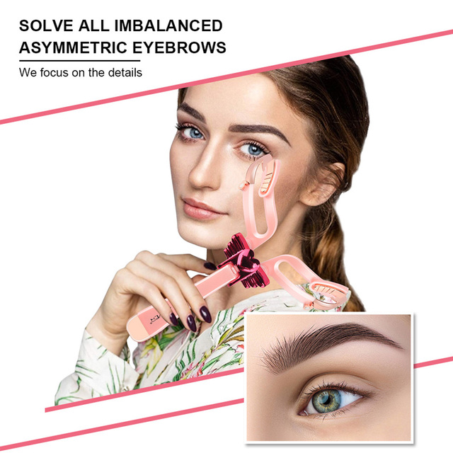 Stereo DIY Home Adjustable Eyebrow Shapes Stencil 3 In 1 For Beginners Drawing Girl Reusable Handheld Tool Portable Folding 1