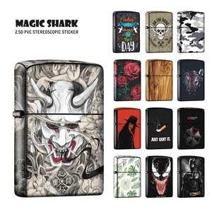 Sticker Case Film-Cover Wolf Zippo-Lighter Skull Shark-Vendetta Devil Rabbit Venom-Stereo