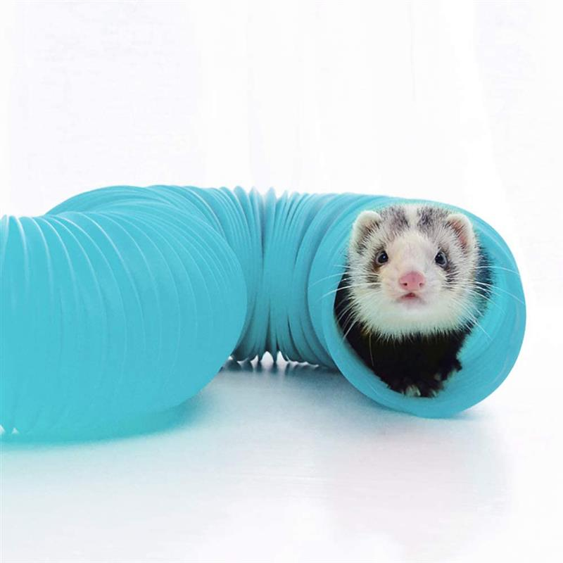 Hamster Tubes Plastic Pipe Line Tube Training Playing Connected External Tunnel Toys Or Small Animal Guinea Pig Rabbit Cage