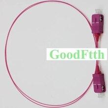 Puente de cable de parche de fibra SC SC multimodo OM4 Simplex 0,9mm GoodFtth 0,5 3 m 10 unids/lote