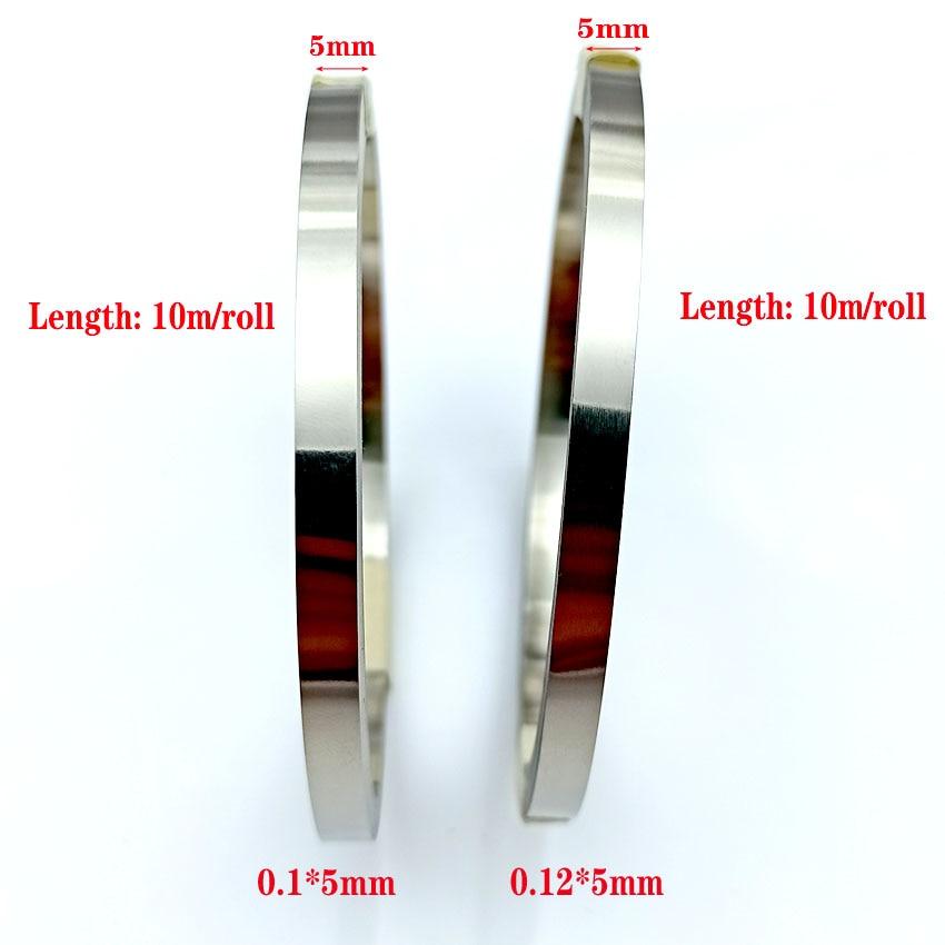 10m/roll 5mm X 0.1/0.12 Nickel Plated Steel Strip Tape For Li 18650 Battery Spot Welding Compatible For Spot Welder Machine