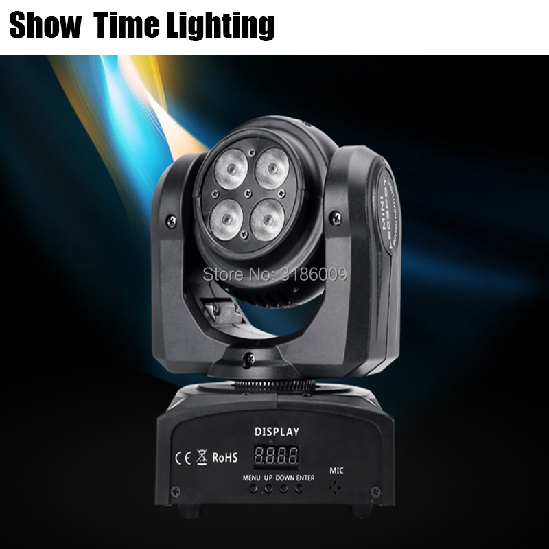 Show Time Beam&Wash 2IN1 Effect Dj Led Moving Head Light Double Side Unlimited Rotate Disco Lite Party KTV Bar Night Club