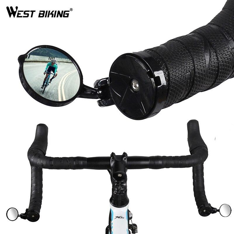 WEST BIKING Bicycle Rearview Road Bike Handlebar Mirror 360 Degree Rotatable Bike Accessories Safe Cycling Handlebar Rear Mirror