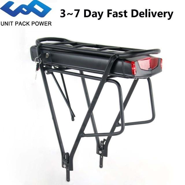بطارية دراجة كهربائية رف خلفي 36 فولت 13 أمبير/ساعة بطارية دراجة كهربائية 468Wh دراجة كهربائية بطبقات مزدوجة أمتعة لموتور Bafang TSDZ2 500 واط 350 واط 250 واط