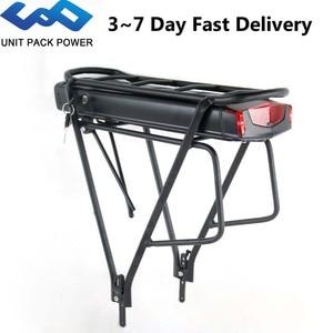 Image 1 - 36V 17.5Ah סמסונג תא אחורי מתלה אופניים חשמליים סוללה עם 2 שכבות מטען עבור Bafang TSDZ2 500W 350W 250W eBike מנוע