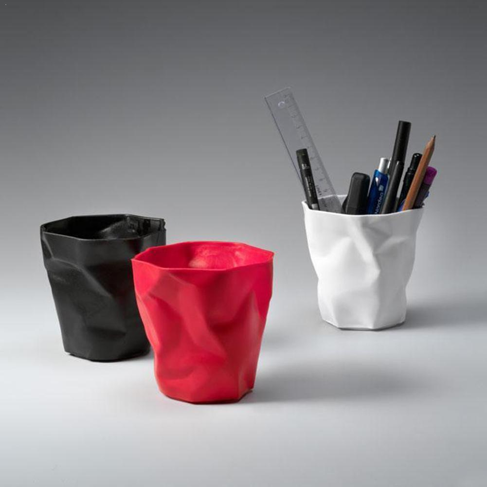 Vividcraft Mini Pen Holder Office Desk Accessories Plastic Desktop Pot For Office Holder Organizer Stand Scale W Pencil Pen W0C8