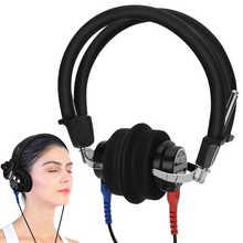 Przenośne słuchawki audiometryczne o wysokiej czułości audiometr z przewodzeniem powietrza słuchawki douszne dla osób w podeszłym wieku opieka zdrowotna