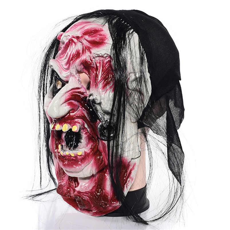 Halloween zombie maschera maschera di Orrore mascara de lattice realista Scary Halloween Puntelli Casa Stregata di Fuga di Halloween mascara terrore