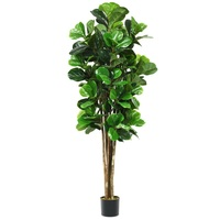 6 Feet Artificial Indoor Outdoor Home Decorative Planter Natural Trunks Leaves and Artificial Moss Simulation Tree HW61302