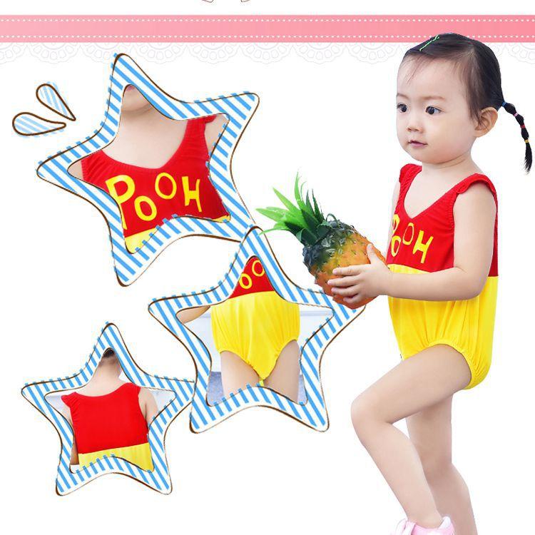 BABY'S Swimsuit Cute Girls BOY'S Swimsuit 0-3 Years Old Baby Swimwear One-piece New Style KID'S Swimwear Fashion