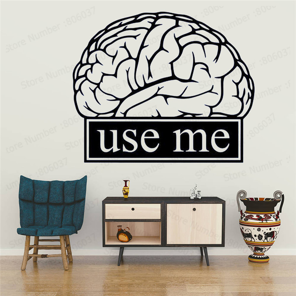 Brain Wall Decal Clroom Work