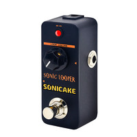 Sonicake Tiny Sonic Electric Guitar Effects Looper Pedal Unlimited Overdubs 10 Minutes Recording Loop QSS 01