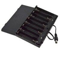 DIY 12V 8 x AA funda porta baterías caja con cables interruptor MOSUNX Futural Digital Venta caliente nuevo F35