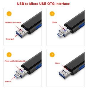 Image 4 - 3 In 1 Tipo c Micro USB OTG lettore di Schede Flash Drive ad alta velocità USB2.0 Universale TF/ intestazioni di Estensione della Carta di DEVIAZIONE STANDARD per il Telefono Del Computer