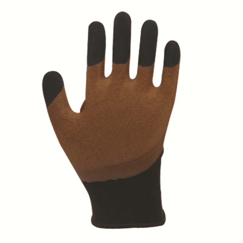 Breathable Nylon Dipped Wrinkle Foam Gloves Waterproof Non-slip Wear Gloves