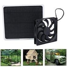 10 Вт солнечная панель вентилятор мини вентилятор для собаки курицы для дома, теплицы RV крыша