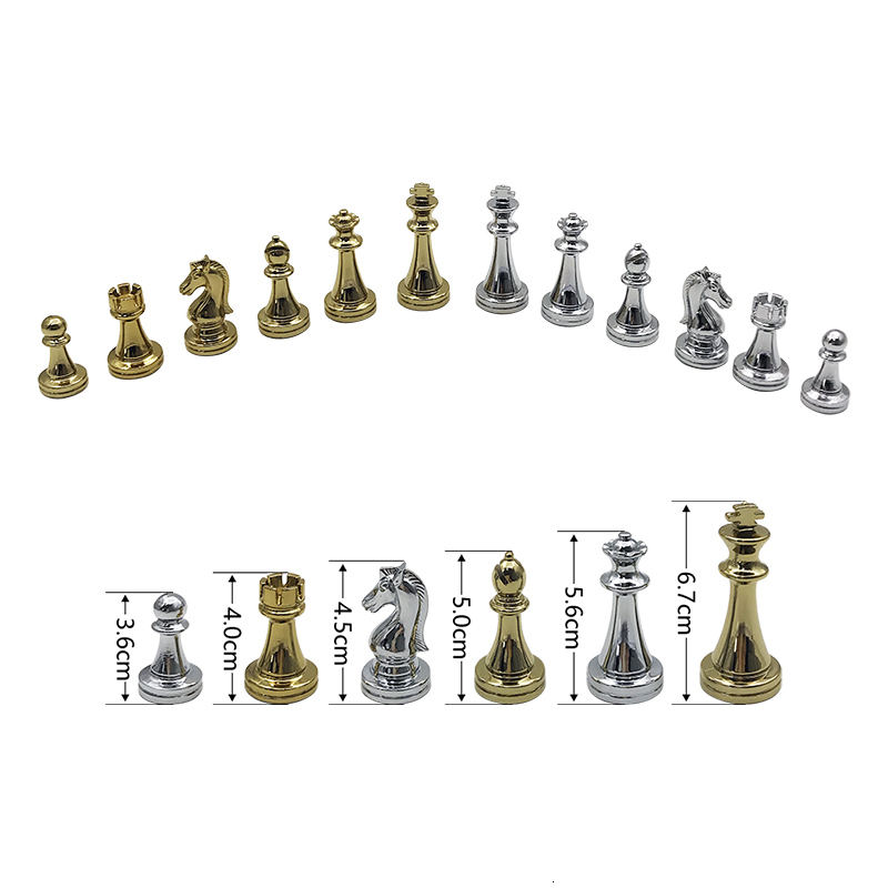 New Wooden Folding Chessboard Retro Metal Alloy Chess Pieces Chess Game Set High Quality Chessboard Gift Entertainment Yernea 3