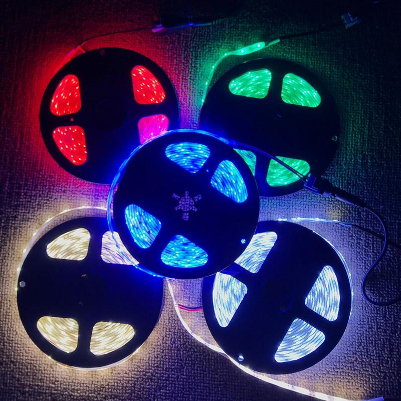 DC12V LED Strip 2835 60LEDs/m Flexible LED Light white warm white 2835 LED Strip 12v 300LEDs 5m/lot ruban led strips tv light 5M