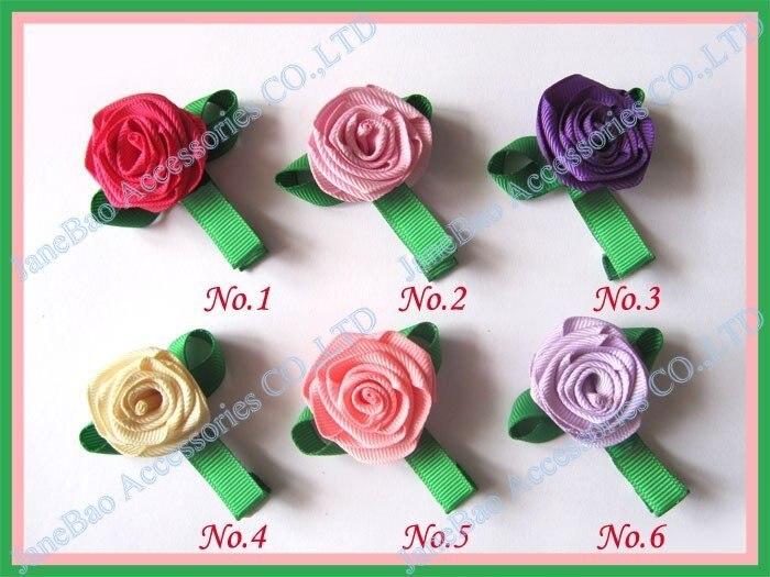 100 шт, бант для волос для девочек, заколки для волос с цветком розы, персонажи, бант для волос на День святого Валентина, заколки для девочек