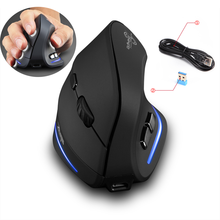F-35 Wireless Mouse Vertical Mouse Ergonomic Rechargeable Mice 2400DPI Optional Portable Gaming Mouse for Mac Laptop PC Computer
