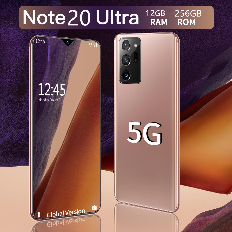 Galaxy Note20 ультра глобальная версия смартфона 12 Гб + 256 ГБ 6,8 дюймов полный экран 4800 мА/ч, с отпечатком пальца разблокировать смартфон Чехол для м...