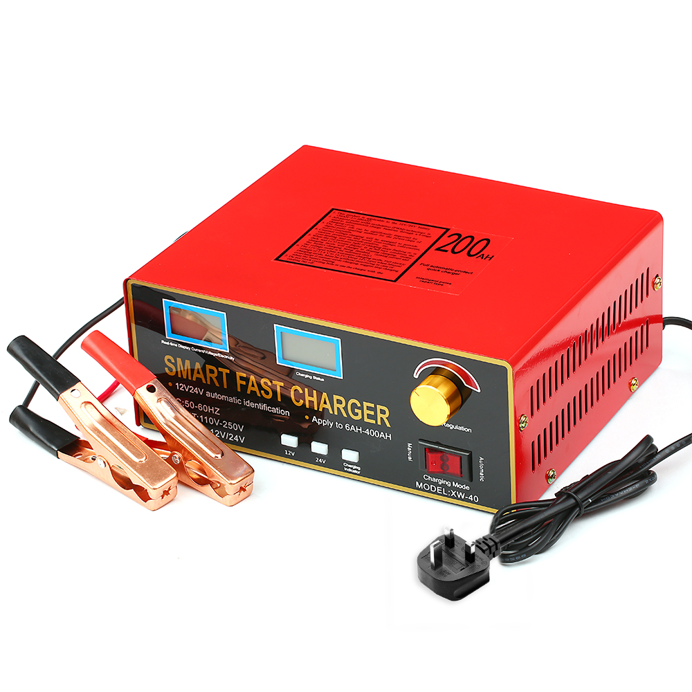 12V/24V 23A/18A 600W 6AH-400AH Smart Pulse Repair Battery Charger and Maintainer For Lead Acid Battery