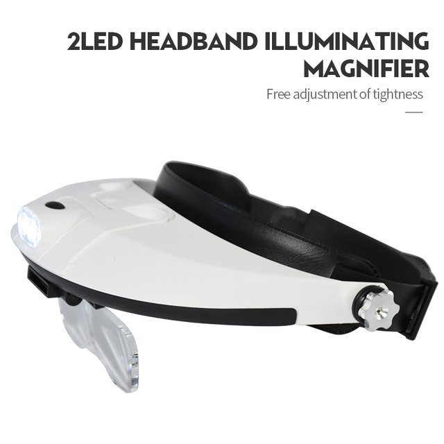 Headband Magnifying Glass With Led Lamp Magnifier For Beekeeping Equipment 1.0-6.0X Multiple Magnification Mirror With 5 Lens 3