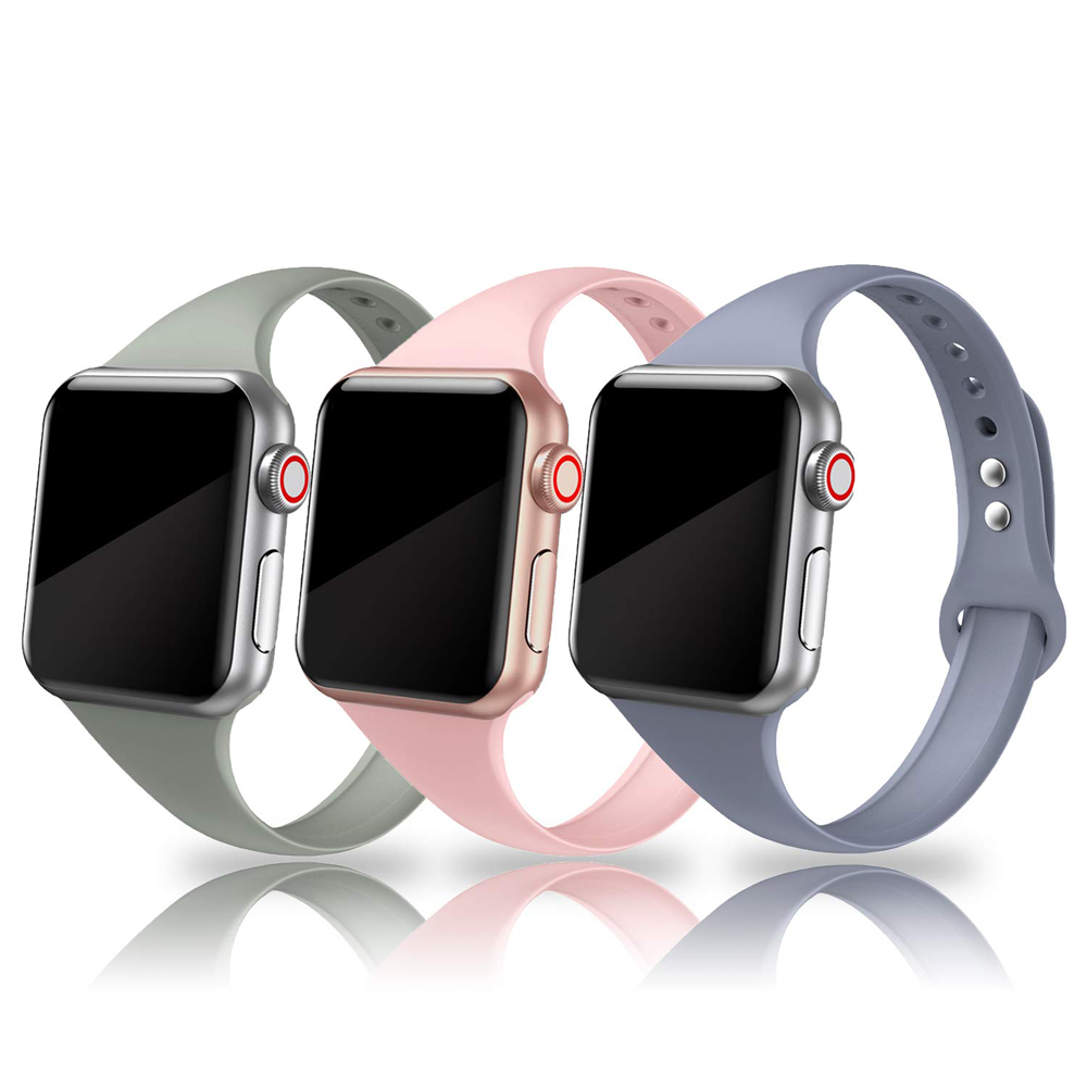 Slim Sport Strap For Apple Watch Band 44mm 40mm Iwatch 5 4 3 Band 42mm 38mm Correa Narrow Thin Soft Silicone Belt Bracelet Band