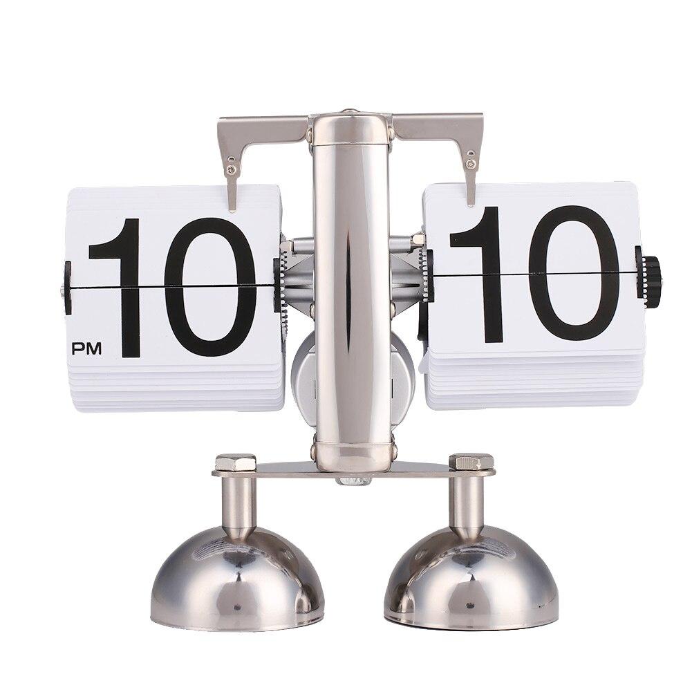 Rétro échelle en métal moderne numérique Auto Flip double Stand maison bureau horloge décor