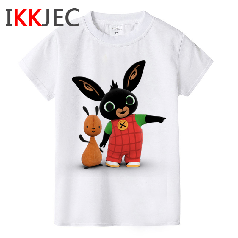 Kawaii Bing Bunny Graphic T Shirt Kids Bing Rabbit Children Funny Cartoon T-shirt Cute Anime Kid Tshirt Casual Top Tees Children
