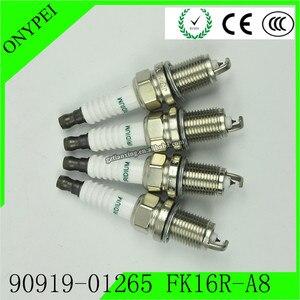 Image 2 - 4 Pcs 90919 01265 FK16R A8 3485 Dual Iridium Spark PlugสำหรับToyota Prius C 1.5L 12 19 9091901265 FK16RA8 90919 01265 FK16R A8